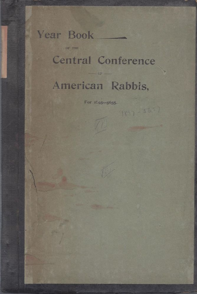 Year Book of the Central Conference of American Rabbis, For 1895-5644 [VIII].