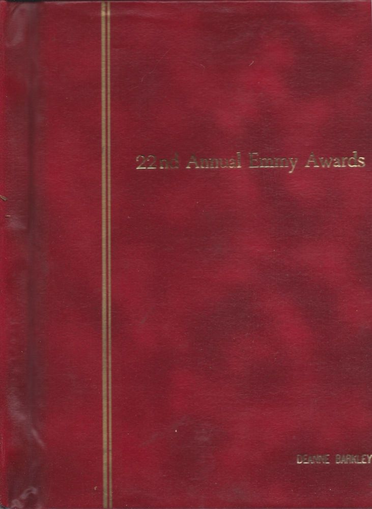 22nd Annual Emmy Awards [1970]. Second Draft: June 2, 1970. Charles E. Andrews, Sid Smith, Richard Dunlap, producers.