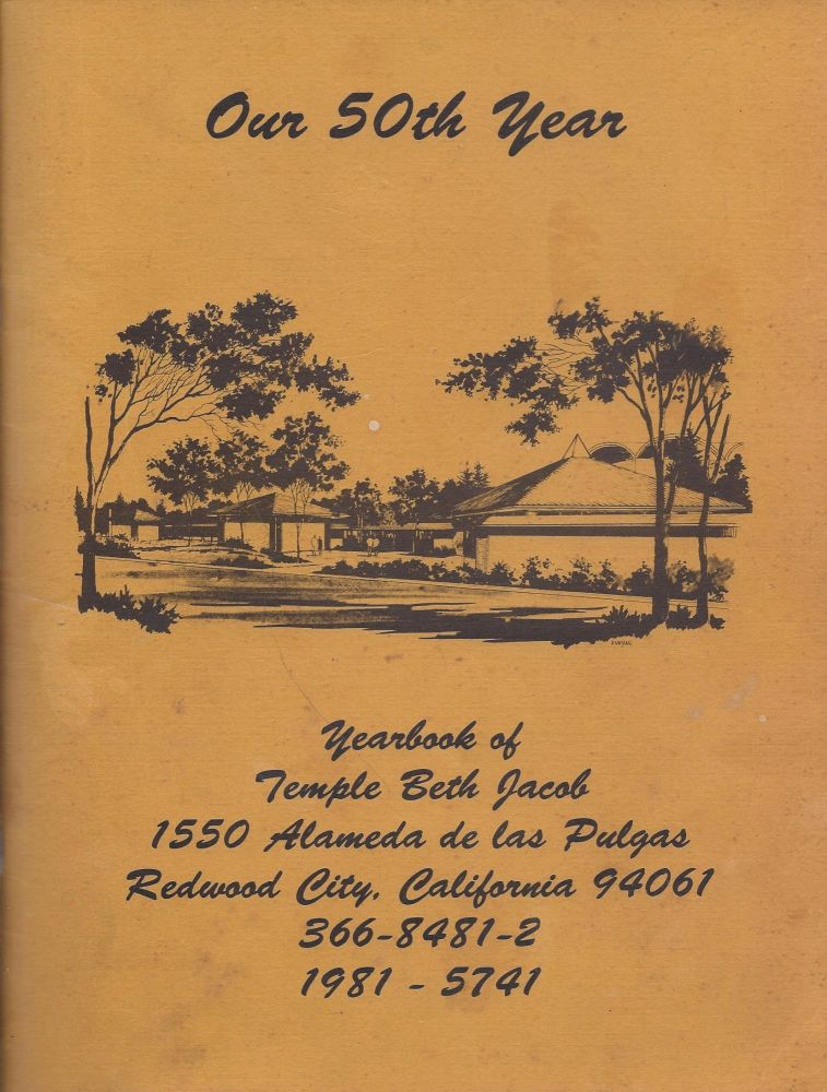 1981 - 5741. Yearbook of Temple Beth Jacob Our 50th Year.