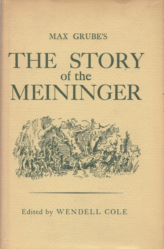 The Story of the Meininger. Max Grube.