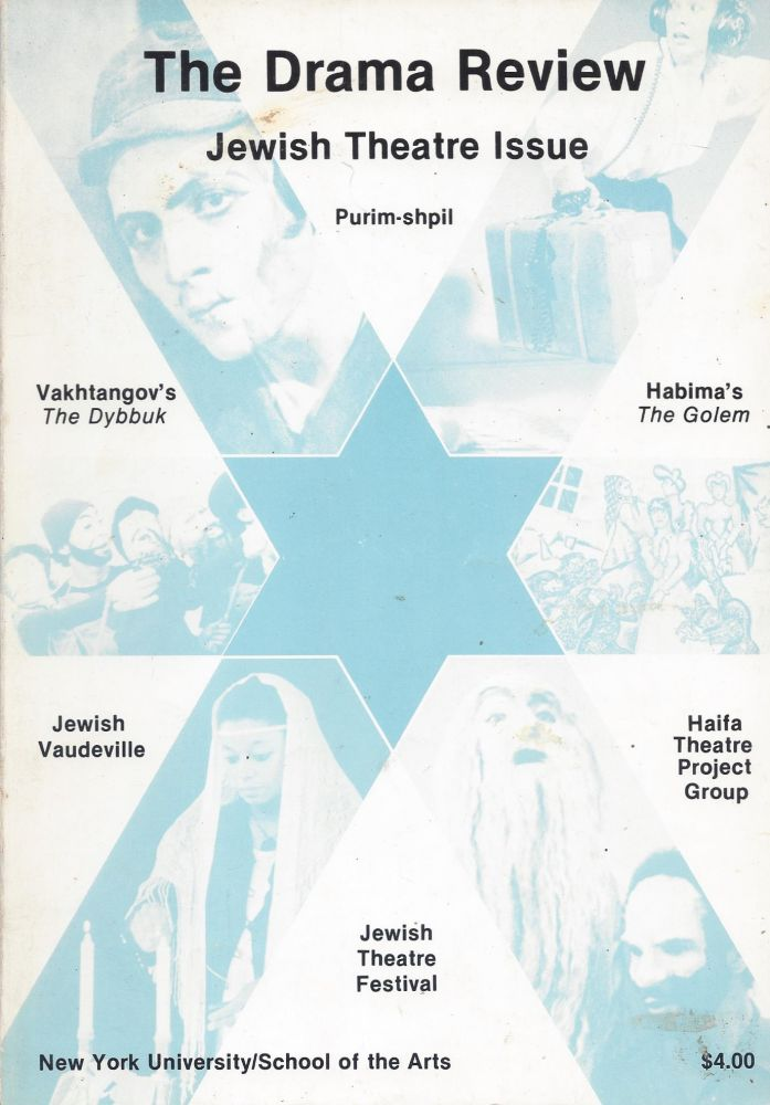The Drama Review: Jewish Theatre Issue. Volume 24, Number 3 (T87), September, 1980. Michael Kirby.