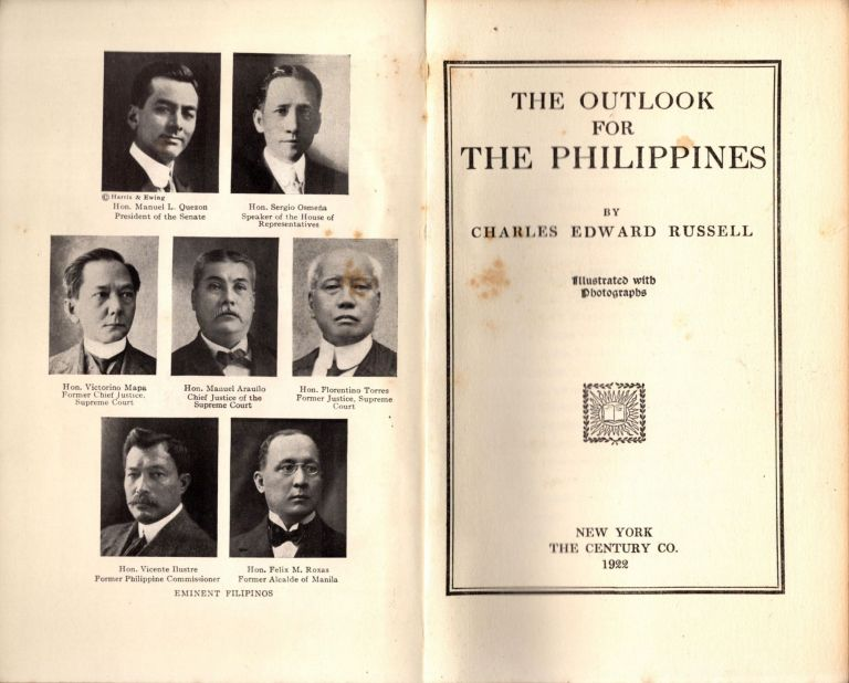 The Outlook for the Philippines. Charles Edward Russell.