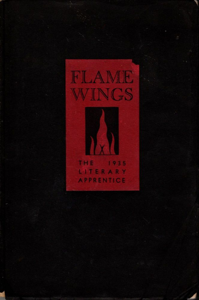 Flame Wings: The Literary Yearbook of the University of the Philippines. Volume VIII. The Literary Apprentice for 1935. Guillermo Castillo.