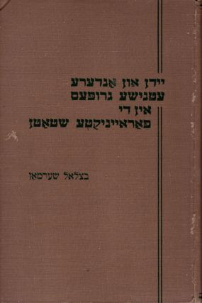 Yidn un andere etnishe grupes in di Fareynikte Shtatn/ Jews and Other Ethnic Groups in the United...