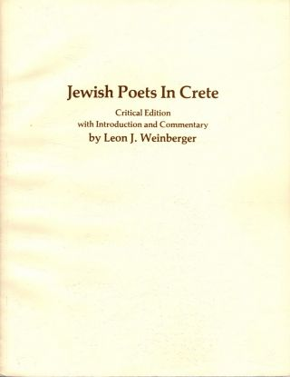 Jewish Poets in Crete: Critical Edition with Introduction and Commentary