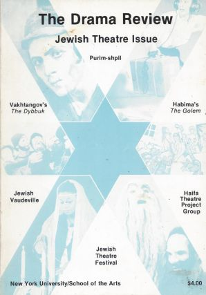 The Drama Review: Jewish Theatre Issue. Volume 24, Number 3 (T87), September, 1980. Michael Kirby
